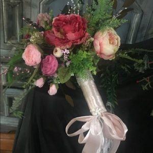 Beautiful peony's handmade bouquet